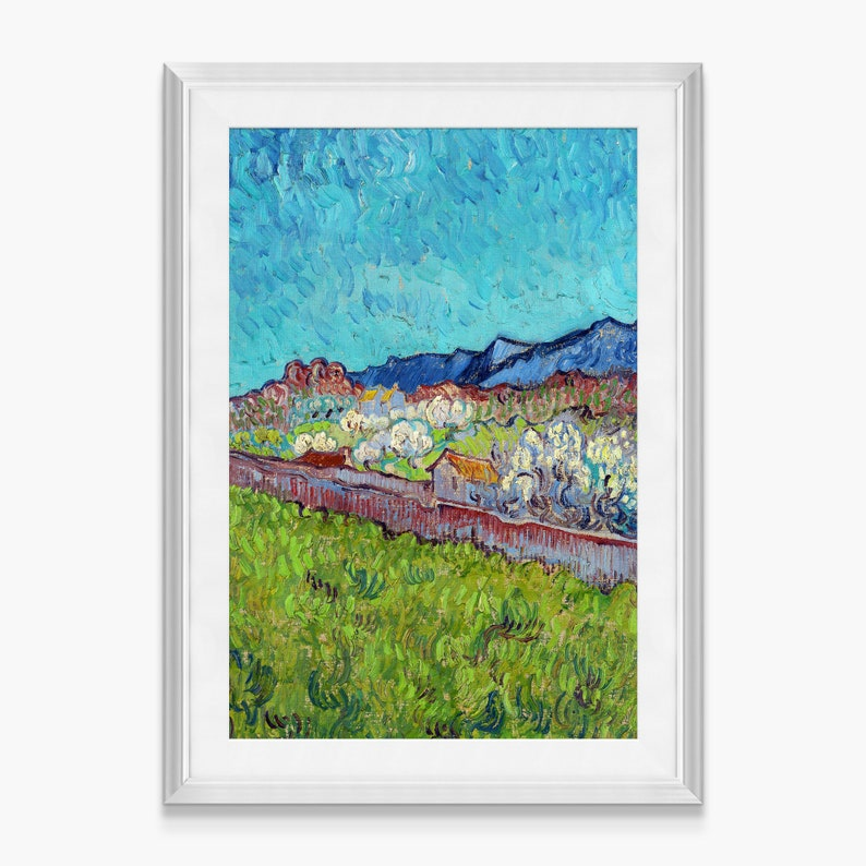 Vincent van Gogh,View of the Alpilles,Framed Prints,wall art prints,Hanging Canvas print,large wall art oversized,f696