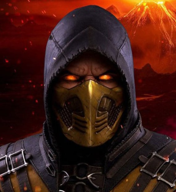 Scorpion Mask Mortal Kombat X 3d Printed Etsy