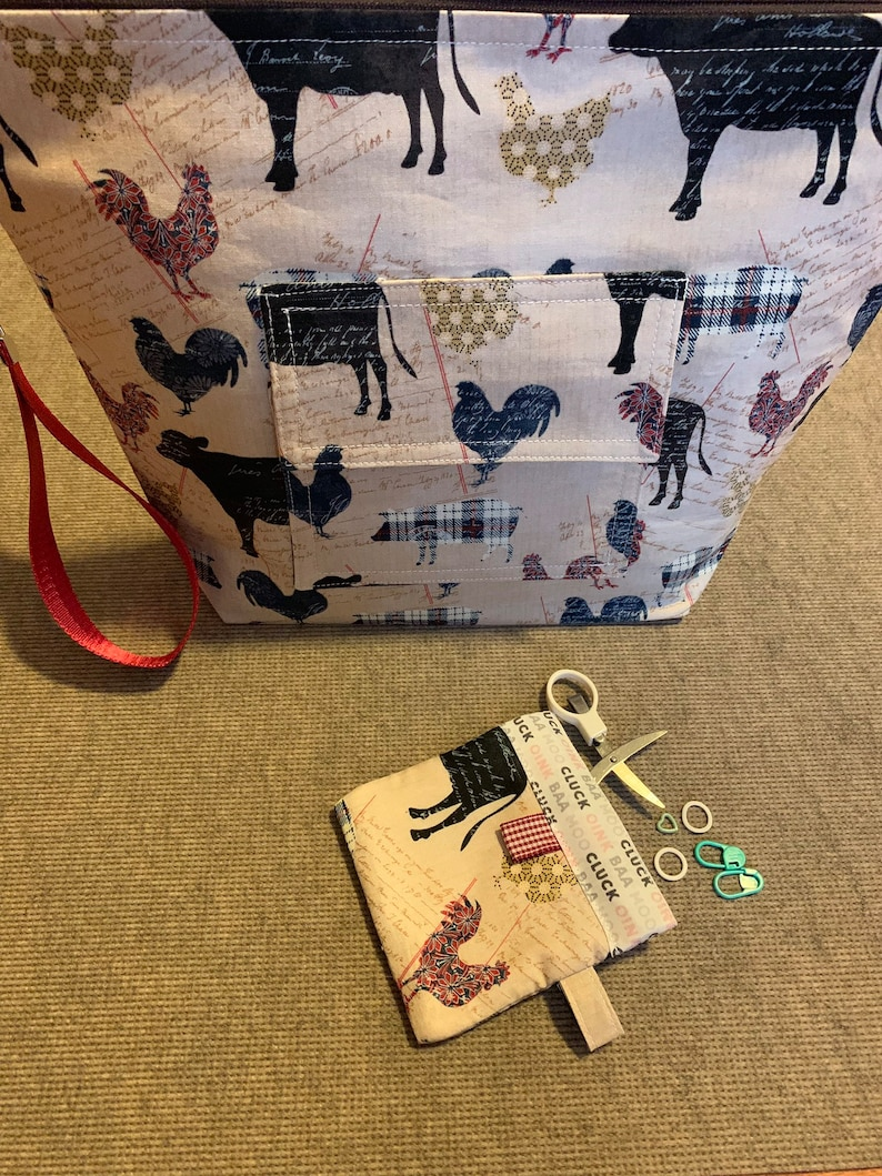 Zippered Project Bag with Snappy Pouch