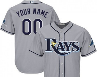 e3c393c3f Mens and Youth Tampa Bay Rays Custom Name   Number Cool Base Baseball  Jersey Multiple Colors Available