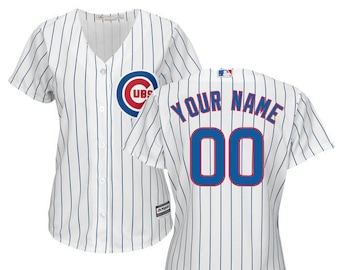 cac1116f Women Chicago Cubs Custom Name & Number Cool Base Baseball Jersey Multiple  Colors Available