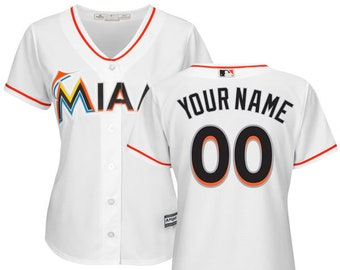 5f6dc9c67 Women Miami Marlins Custom Name   Number Cool Base Baseball Jersey Multiple  Colors Available