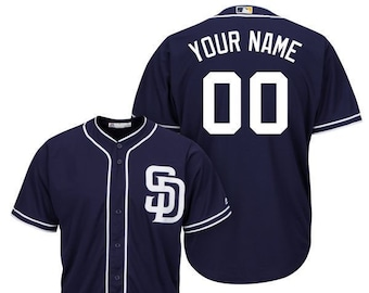 eb8310021f8 Mens and Youth San Diego Padres Custom Name   Number Cool Base Baseball  Jersey Multiple Colors Available