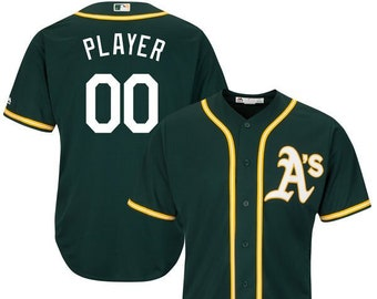 3f6439b3f Mens and Youth Oakland Athletics Custom Name   Number Cool Base Baseball  Jersey Multiple Colors Available