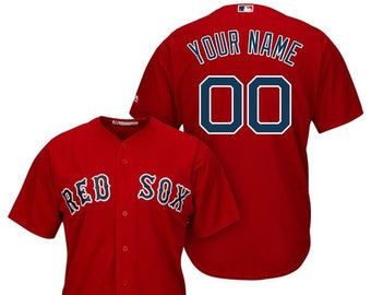 9dbad921ac1 Mens and Youth Boston Red Sox Custom Name   Number Cool Base Baseball Jersey  Multiple Colors Available