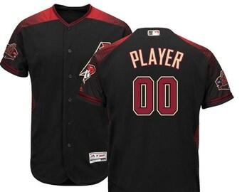 9d0e1a635 Mens Arizona Diamondbacks Custom Name   Number Flex Base Baseball Jersey  Multiple Colors Available