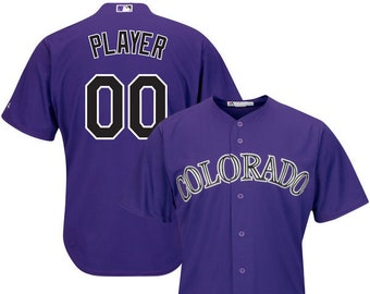 1c9a3314833 Mens and Youth Colorado Rockies Custom Name   Number Cool Base Baseball  Jersey Multiple Colors Available