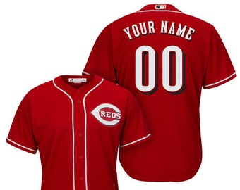 e84b47f57 Mens and Youth Cincinnati Reds Custom Name   Number Cool Base Baseball  Jersey Multiple Colors Available