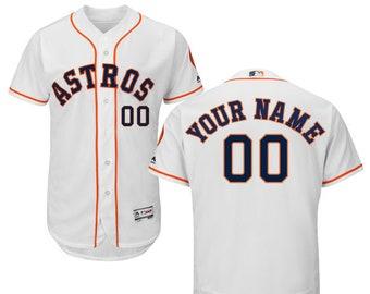 e752df985 Mens Houston Astros Custom Name   Number Flex Base Baseball Jersey Multiple  Colors Available