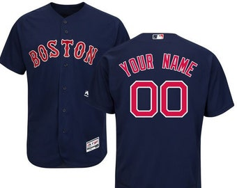 57fa24fc021df Mens Boston Red Sox Custom Name & Number Flex Base Baseball Jersey Multiple  Colors Available