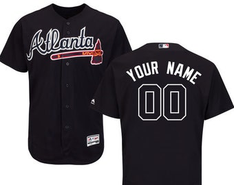 9f8d0e56f Mens Atlanta Braves Custom Name   Number Flex Base Baseball Jersey Multiple  Colors Available