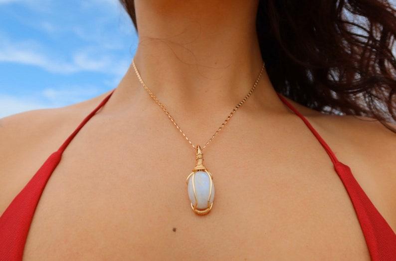 Polish Moonstone Necklace!