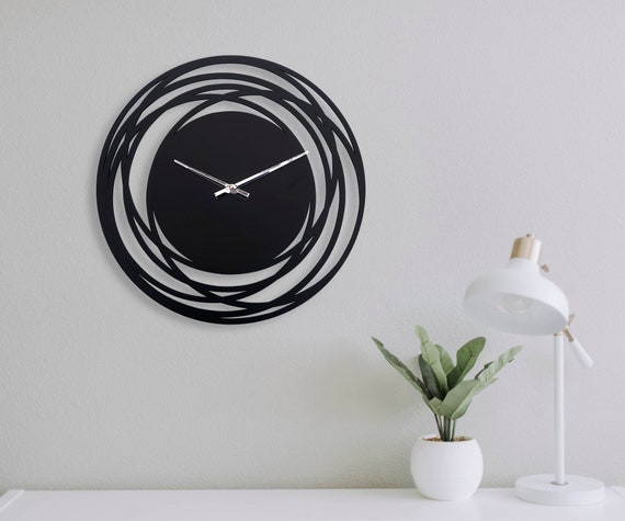 Wall Clock Modern Unique Clocks For Wall Kitchen Wall Clock Etsy