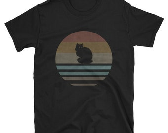 2c874a5e4 Black Cat Shirt Retro | men | Women | Short-Sleeve Unisex T-Shirt