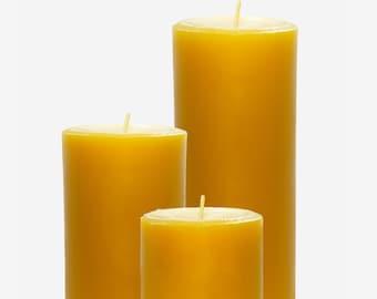 Beeswax Pillar Candle Set