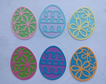 Metal Easter Die Cuts 6 Patterns of Easter Eggs Embossing Stencil Cutting Dies for Card Making Scrapbooking Paper Craft Album Stamps DIY D/écor