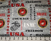 Sykel Enterprises Marines Fabric by the yard