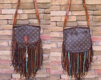 e543624db77a Bohemian Western Fringed Louis Vuitton Bag