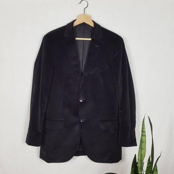 Zegna Velvet Men's Blazer Black Jacket Luxury