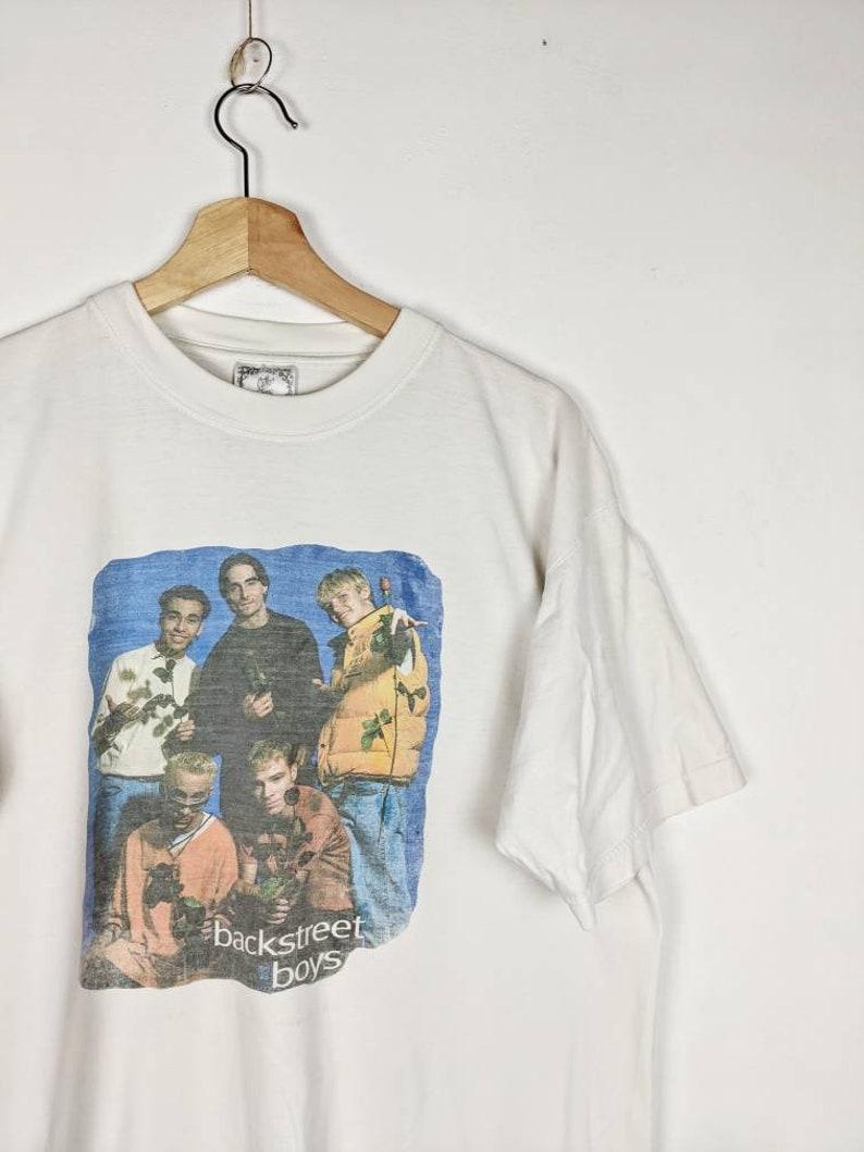 Vintage Backstreet Boys Merch T-shirt 90s Retro Hip-Hop