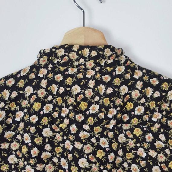 Vintage Blondie Floral Shirt  Roses Blouses Paste… - image 8