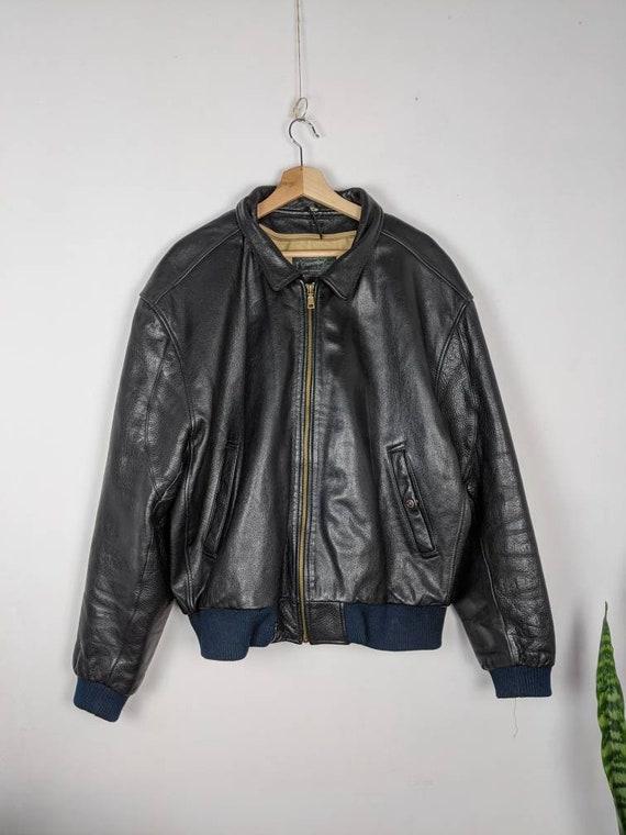 Vintage Levis Leather Jacket Made in Korea