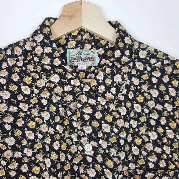 Vintage Blondie Floral Shirt  Roses Blouses Paste… - image 3