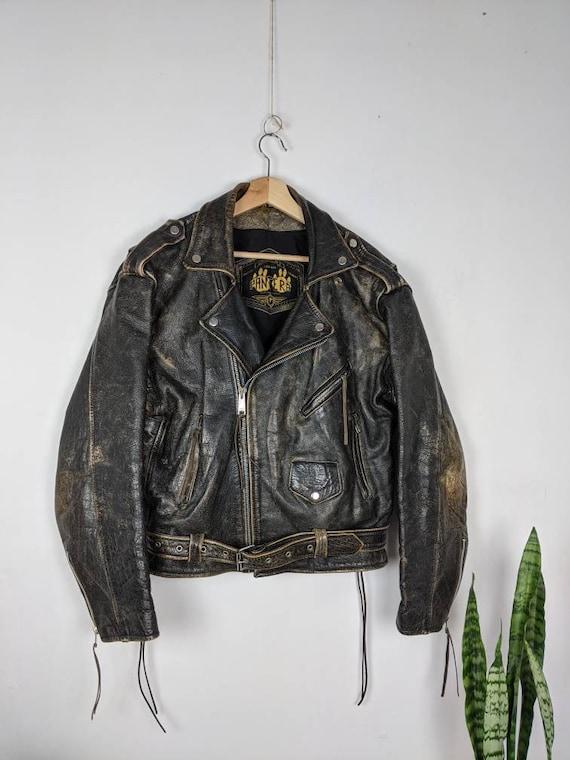 Vintage  Pantera Leather Motorcycle Leather Jacket