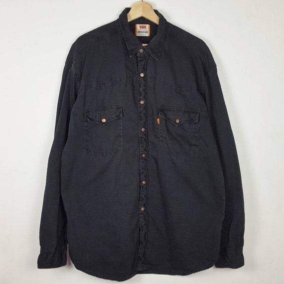 Vintage Levis Shirt Black Denim Button Down 80s