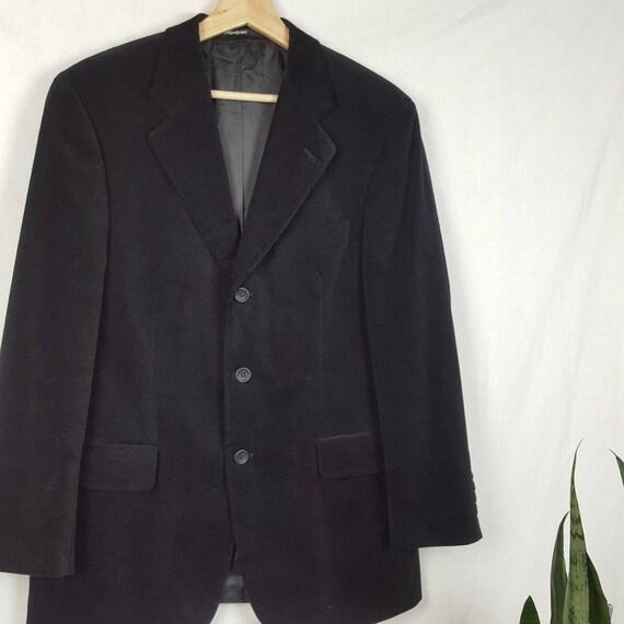 Vintage Yves Saint Laurent Men's Suit Black Velvet