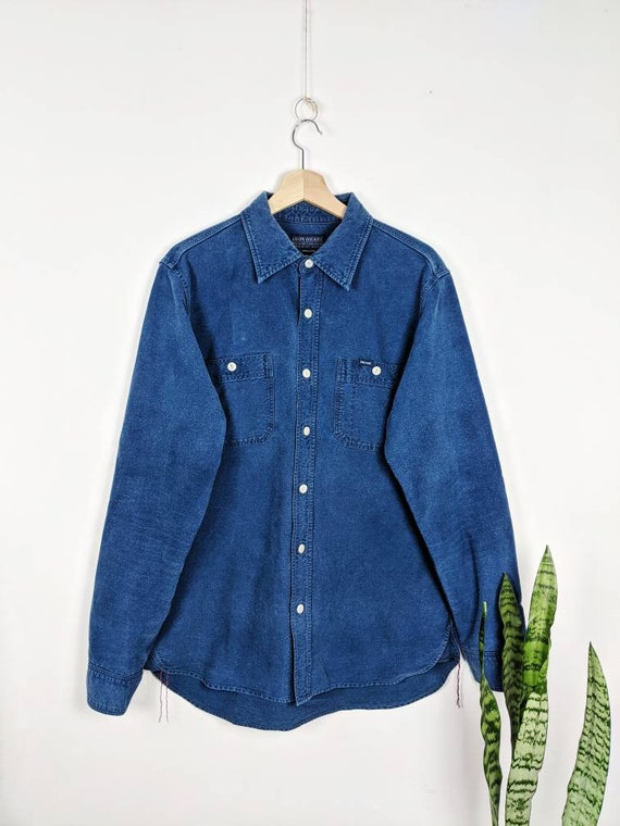 Iron Heart Chambray Blue Work Shirt Selvedge Denim