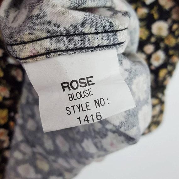 Vintage Blondie Floral Shirt  Roses Blouses Paste… - image 7
