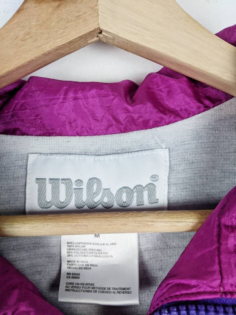 Vintage Wilson Tennis Jacket Multicolor Retro 80s
