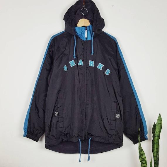 Vintage San Hose Sharks CCM Jacket Made in Korea N