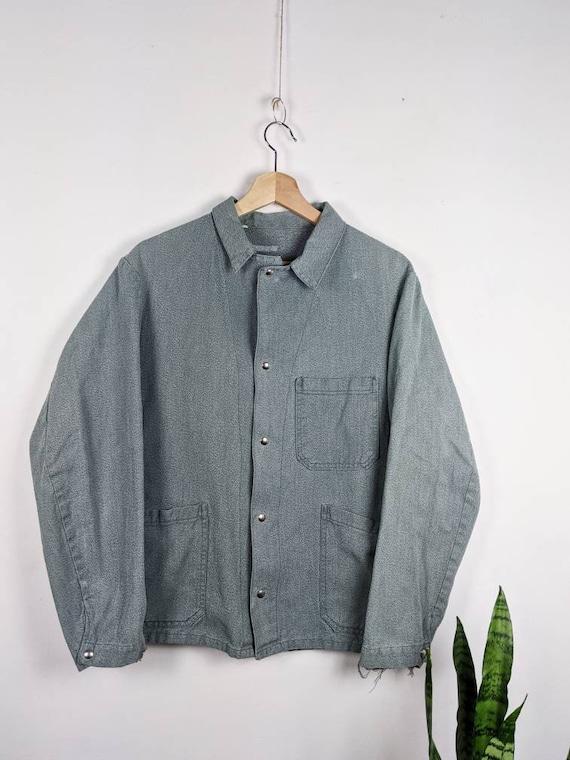 Vintage French Chore OLIVE  Work Jacket Pants Sanf
