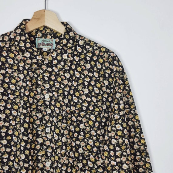 Vintage Blondie Floral Shirt  Roses Blouses Pastel