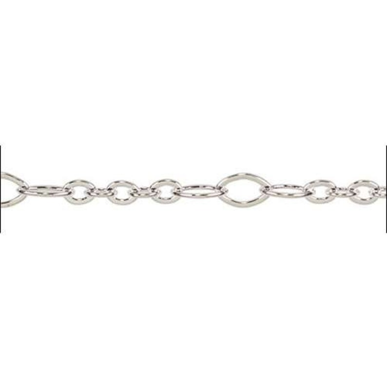 Silver Plate 5:3 Oval Chain