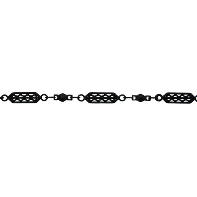 Nite Black Tribal Filigree Chain