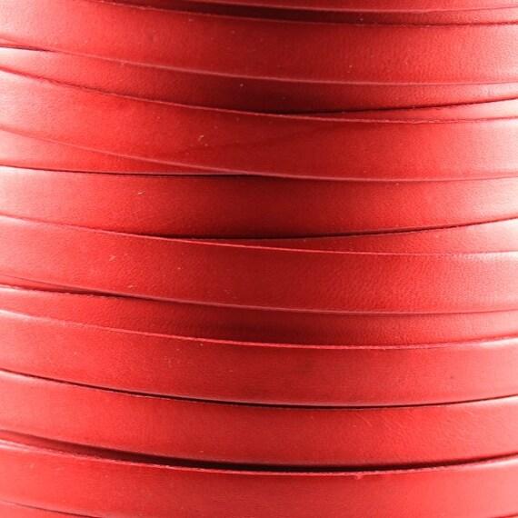 Bruciato 10mm Flat leather cord Tan per INCH