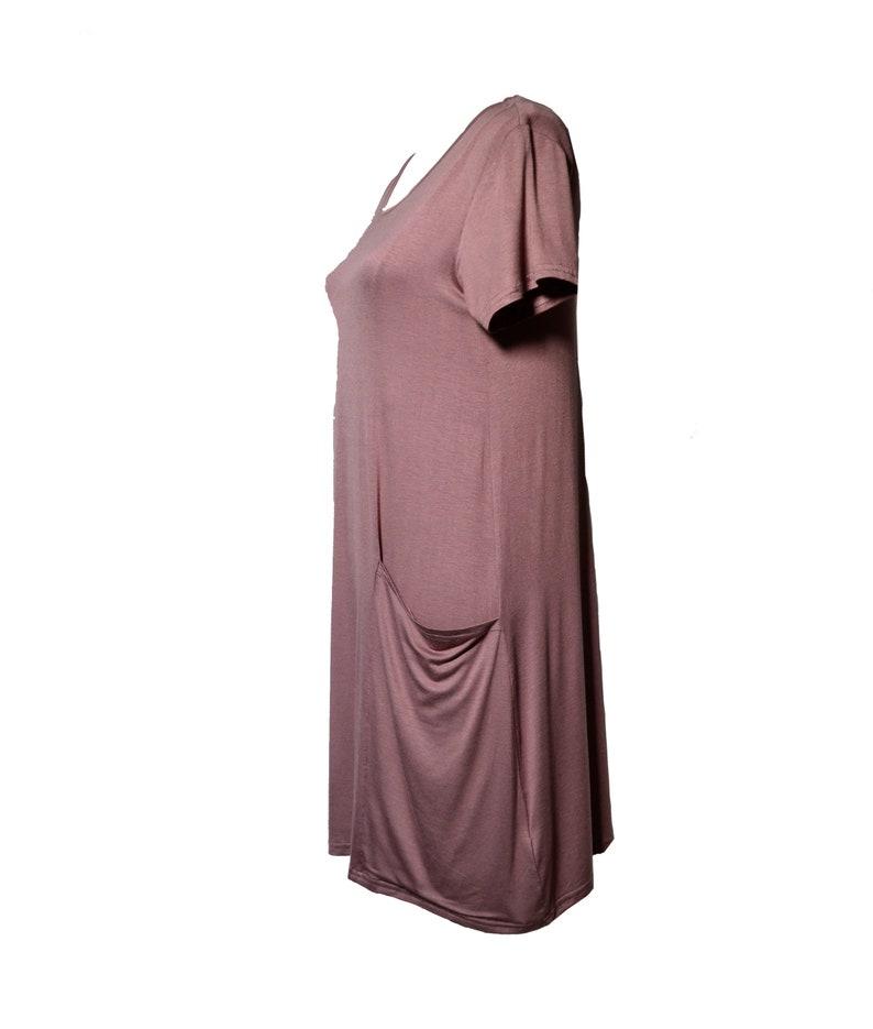 Blush Flow Front Pockets Dress