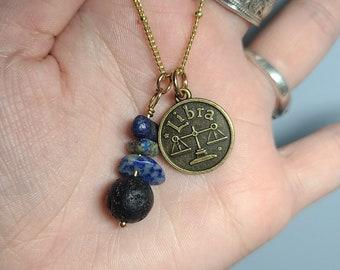 Libra Zodiac Themed Charm Necklaces