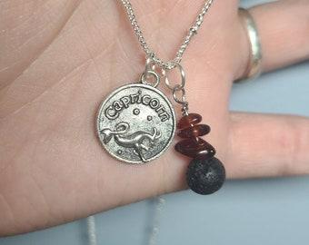 Capricorn Zodiac Themed Charm Necklaces