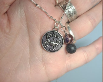 Aries Zodiac Themed Charm Necklaces