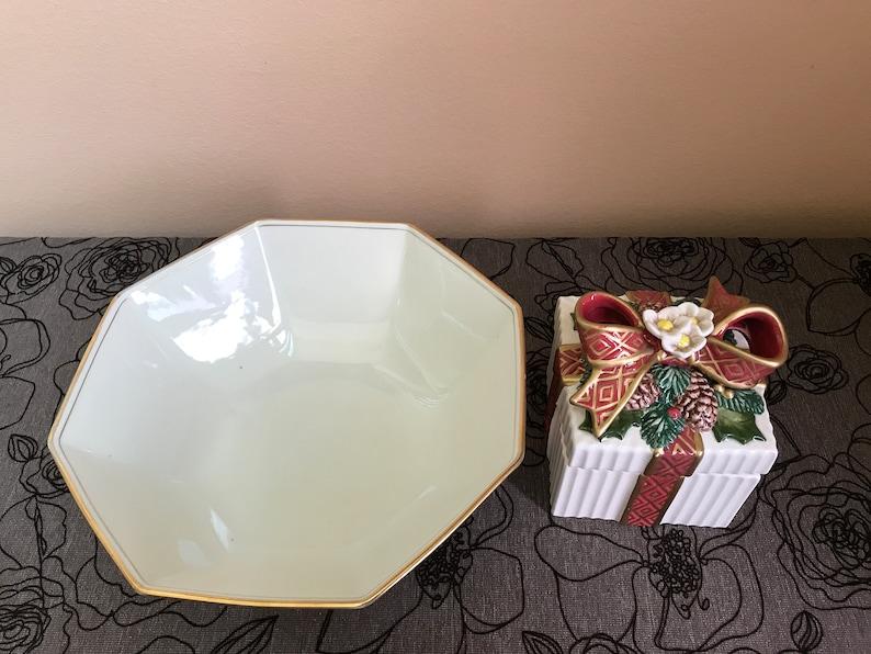 Fitz /& Floyd box and bowl