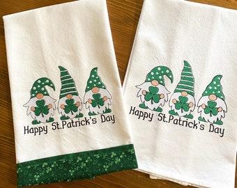 St Patricks Gnome Towel