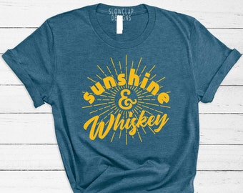 d3ec246e0 Summer Sunshine & Whiskey T-Shirt – Cute and Fun Fourth of July Unisex Drinking  Tee