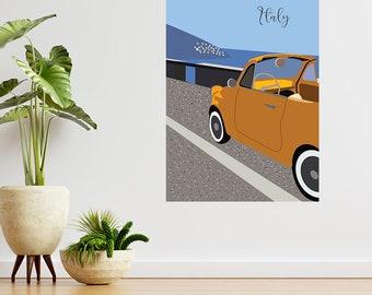 Italy Poster , Positano Coast Illustration , Travel Poster , Home Decor , Mothers Day Gift , Art Decor , Decorative Print , Digital Download