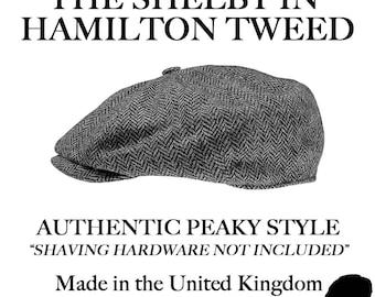 fe22f64a051e5 Poe   Company Limited Shelby Flat Cap in Hamilton Tweed