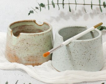 MINI Series II: Ceramic Paint Water Cup-w/ Multiple Colors, Gift for painters and artists, Handmade Watercolor Paint Cup, Painter's Pot
