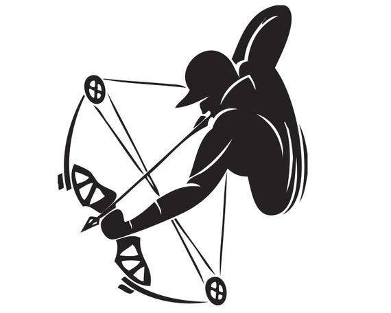 Archery Logo Archer Sports Game Arrow Range Hunt Competition Archer Shoot  Bow Target  SVG  EPS  PNG Clipart Vector Cricut Cut Cutting File